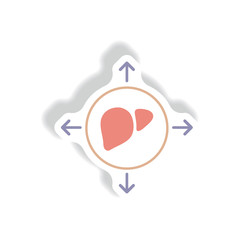 Vector paper sticker various symptoms of leukemia on bodies