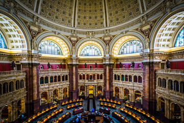 The Main Reading Room, at the Thomas Jefferson Building of the L