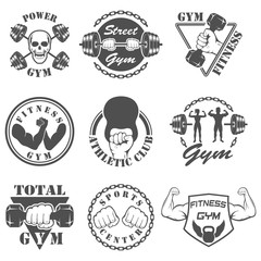 Vintage Weight Lifting Label and Sticker
