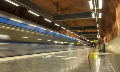 Stockholm Metro Train Station