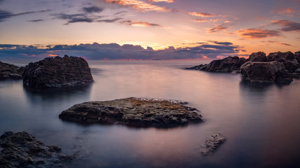 Dreamy seascape at sunset
