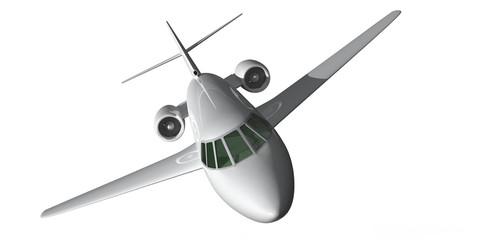 Privat Jet, Privat Flugzeug weiß freigestellt