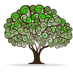 Swirl green tree