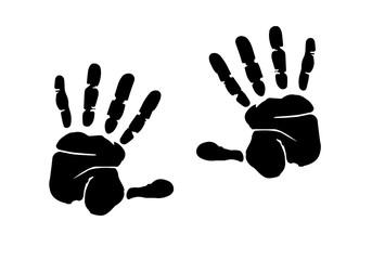 hands print illustration