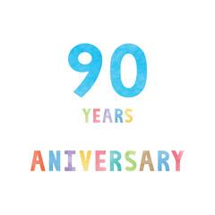 90 years anniversary celebration card