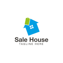 Sale house logo design