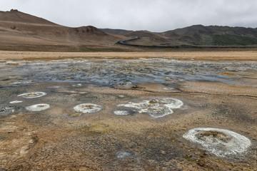 Zone géothermale de Hverir, dans la région du lac Mývatn en Islande.