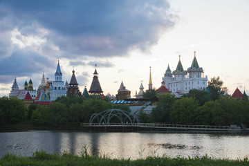 Kremlin near the river bank