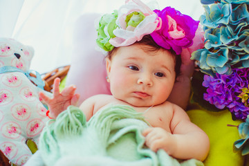 Photos wonderful little newborn girl