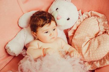 Photo fun little newborn baby