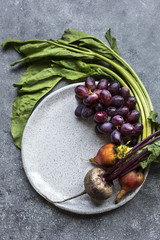 Beets and grapes
