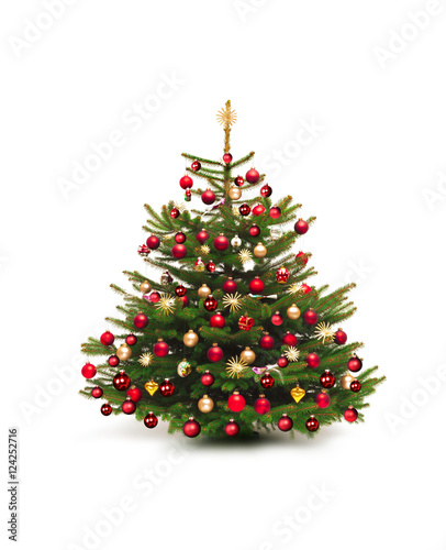 weihnachtsbaum mit nostaglischem schmuck stockfotos und. Black Bedroom Furniture Sets. Home Design Ideas