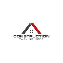 Construction abstract logo design template