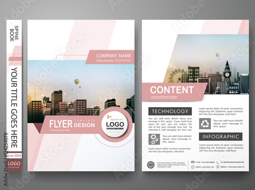 Brochure Design Template Vector Abstract Shape Cover Book