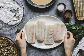 Oven-Fried Fish Fillets
