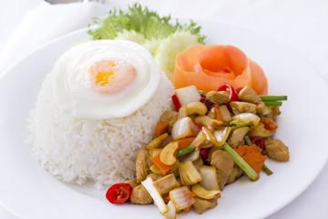 Thai food: Stir-fried chicken with cashew nu