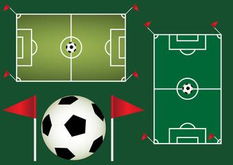 Football background. Soccer vector design.