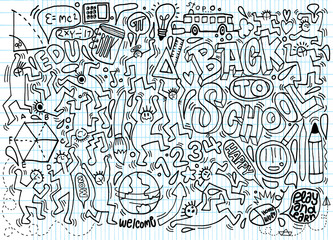 Back to school themed doodle background,School doodles, vector s