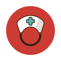 Nurse flat icon. Medical vector