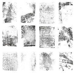 Set of Grunge  Texture Stamp. Grunge shapes