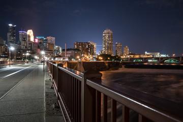 Minneapolis Minnesota Night Skyline