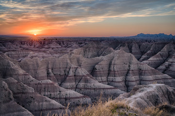 Badlands South Dakota Sunset Wall mural