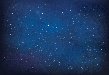 Vector night starry sky background. Wall mural