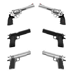 weapon pistol and revolver