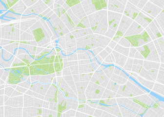 Berlin colored vector map