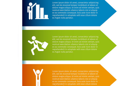 3 Arrow Banner Business and Finance Infographic with Pictogram Icon Set 2