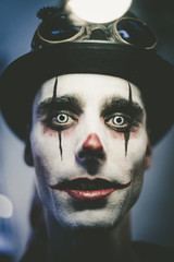 Man with halloween make-up