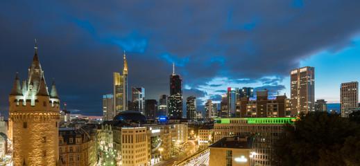 Frankfurt am Main Abenddämmerung