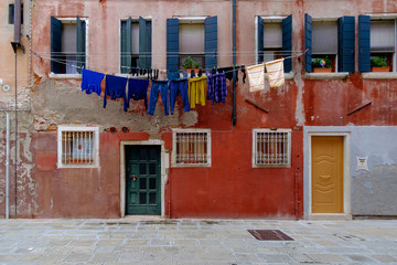 Clothes hung out to dry in Venice