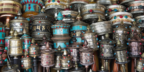 Ornate colourful traditional chinese items;Lhasa xizang china