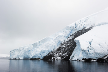 Glaciers along the coast of the souther ocean;Antarctica