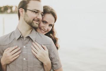 Portrait Of A Couple; Crescent Beach, British Columbia, Canada