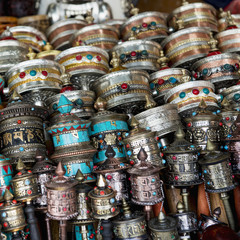 Ornate and colourful traditional chinese items;Lhasa xizang china