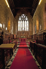 Interior of a church;Melton mowbray leicestershire england