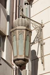 Traditional Arabic metal streetlight