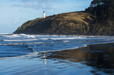 North Head Lighthouse is found at Cape Disappointment State Park; Ilwaco, Washington, United States of America