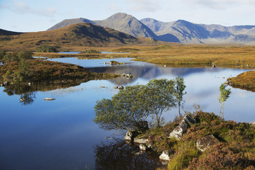 Lake at Rannoch Moor, near Glencoe; Argyll and Bute region, Highlands, Scotland