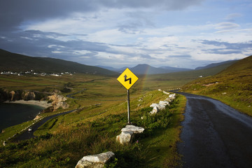 The Atlantic Drive on Achill Island; County Mayo, Ireland