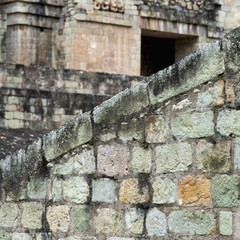 A Stone Wall Of A Maya Civilization At Copan Ruins; Copan, Honduras