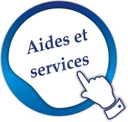 bouton aides et services