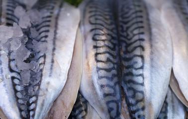 Fish For Sale At Borough Market; London, England