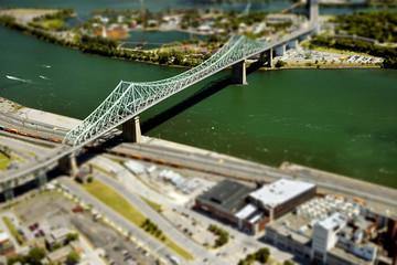 Jacques Cartier bridge; Montreal, Quebec, Canada