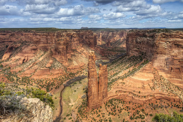 Spider Rock, Canyon de Chelly National Monument; Arizona, United States of America