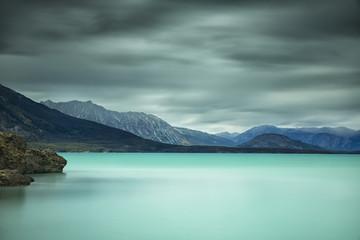 Long exposure over top of Atlin Lake; British Columbia, Canada