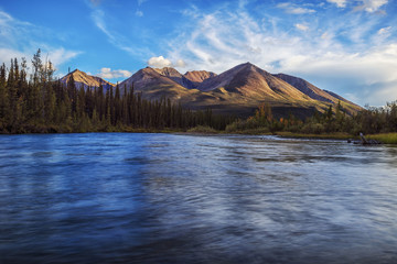 An unnamed peak along the Lapie River along the South Canol Road; Yukon, Canada