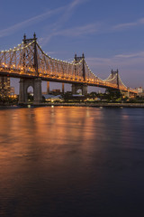 Queensboro (59th Street) Bridge at twilight; Queens, New York, United States of America